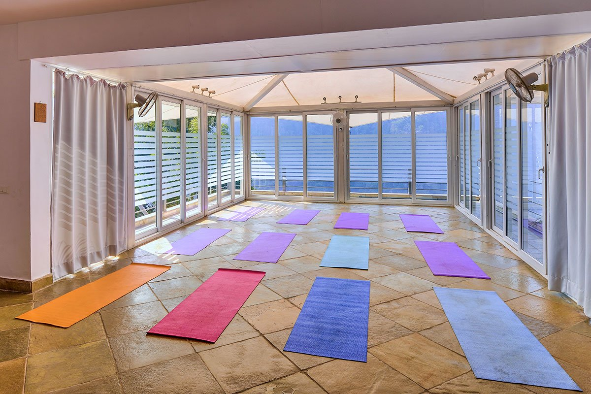 Our conference room can be converted into a Yoga Studio