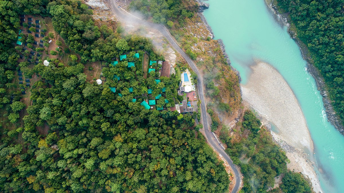 A Top-Down view from the Sky of Camp Aquaterra & Atali Ganga