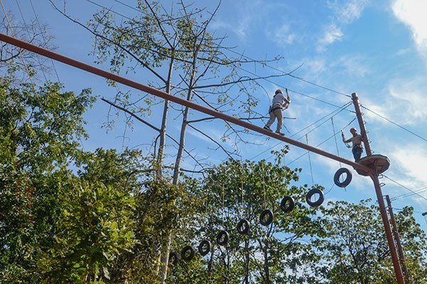 High Ropes Course at Atali Ganga in Rishikesh