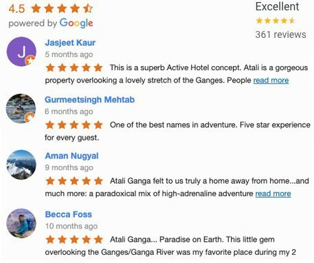 Top Rated Hotel in Rishikesh by Users on Google